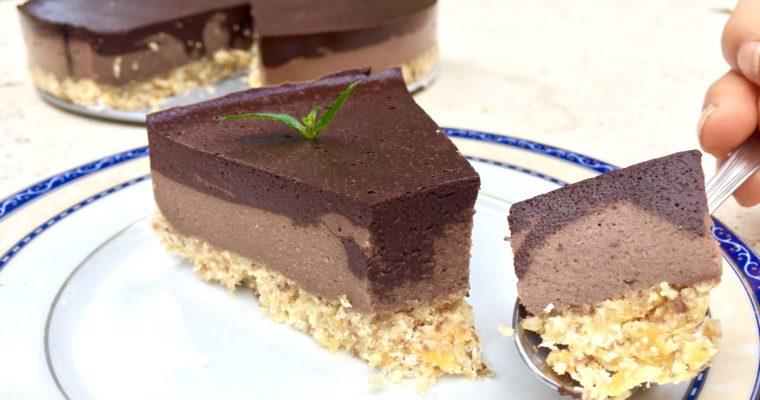 Torta fredda alle nocciole e cacao