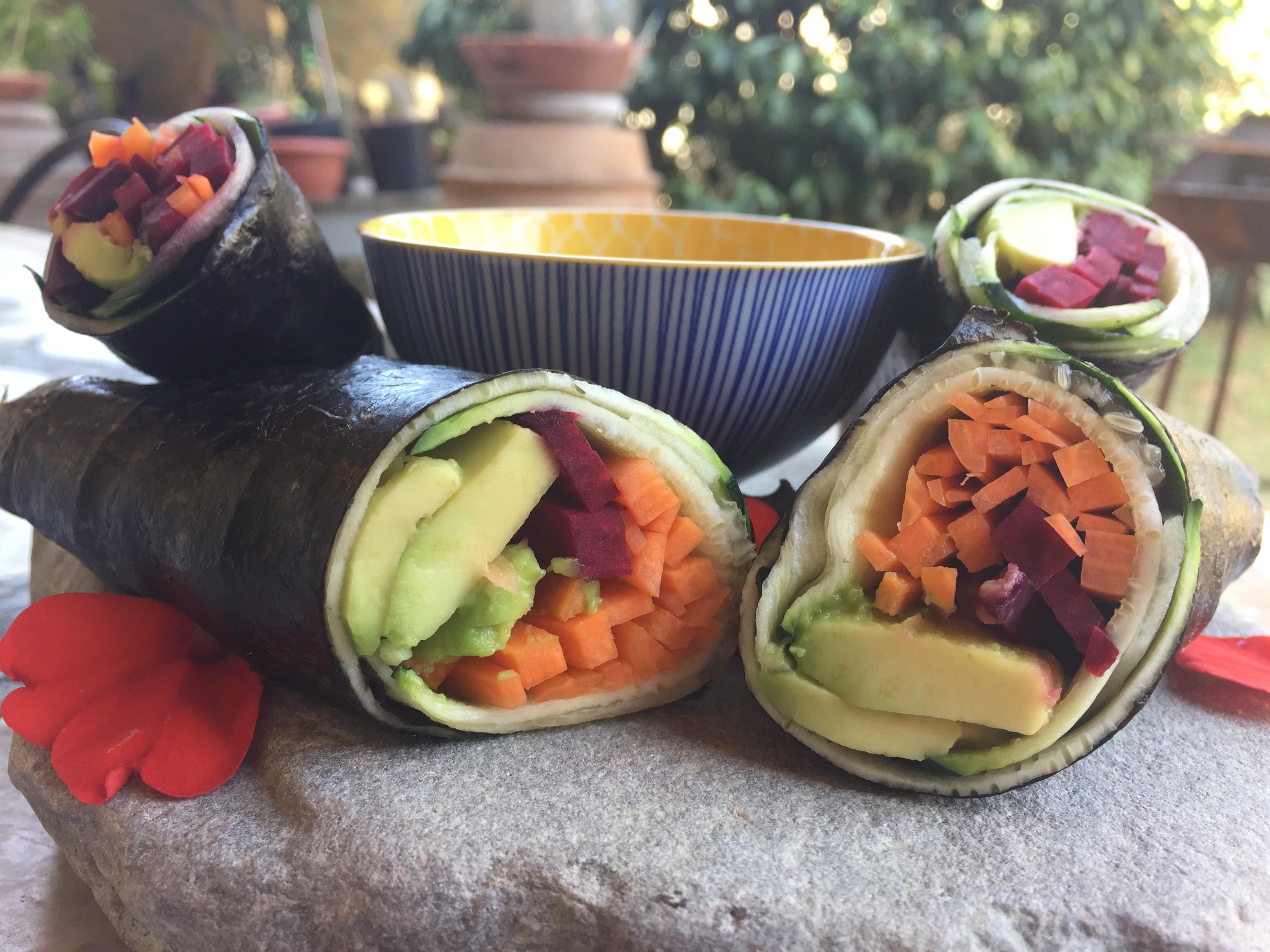"""""""Sushirrito"""" vegano crudista – Il sushi incontra il burrito"""